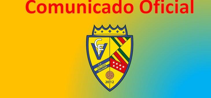 COMUNICADO OFICIAL: CATEGORÍA PREBENJAMÍN, BENJAMÍN Y ALEVÍN